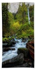 Starvation Creek And Falls Bath Towel