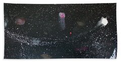 Hand Towel featuring the painting Starry Night by Michael Lucarelli