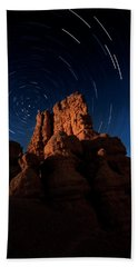 Bath Towel featuring the photograph Stary Trails At Red Canyon by Edgars Erglis