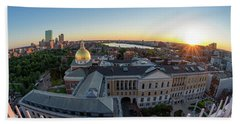 State House,fisheye View Hand Towel