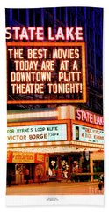 State-lake Theater Hand Towel