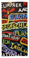 State Of Europe Bath Towel by Darrell Black