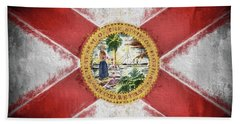 Hand Towel featuring the digital art State Of Florida Flag by JC Findley