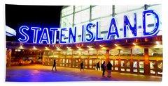 Staten Island Ferry Hand Towel