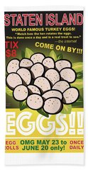 Staten Islands Eggs Bath Towel