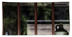 Hand Towel featuring the photograph Station Window by Brad Allen Fine Art