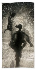Statue In Rostock, Germany Hand Towel by Jeff Burgess