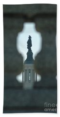 Statue Of Freedom Through Railing Hand Towel