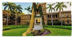 Statue Of, King Kamehameha The Great Bath Towel