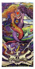 Steal Your Mermaids Bath Towel by David Sockrider