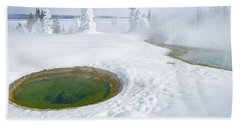 Hand Towel featuring the photograph Steam And Snow by Gary Lengyel