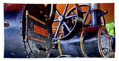 Steam Engines - Locomobiles Bath Towel