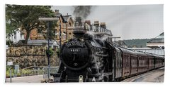 Steam Locomotive 48151 Bath Towel by David  Hollingworth