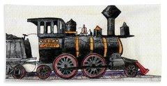 Steam Locomotive Bath Towel by R Kyllo
