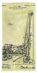 Steam Powered Oil Well Patent Hand Towel