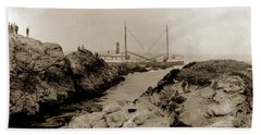 Steam Schooner S S J. B. Stetson, Ran Aground At Cypress Point, Sep. 1934 Hand Towel by California Views Mr Pat Hathaway Archives