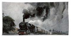Steam Train At Garsdale - Cumbria Bath Towel