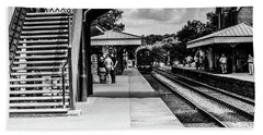Steam Train In The Station Hand Towel