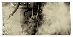 Hand Towel featuring the photograph Steam Train Series No 4 by Clare Bambers