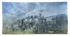 Steam Train Toned Bath Towel by Randy Steele