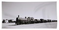 Steam Trains Hand Towel by Shaun Higson