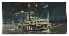 Steamboat On Mississippi Bath Towel