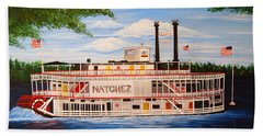 Steamboat On The Mississippi Hand Towel