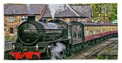 Steaming Out Of Grosmont Station Bath Towel