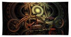 Steampunk Chopper Bath Towel by Louis Ferreira