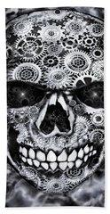 Steampunk Skull Bath Towel