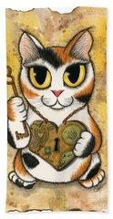 Steampunk Valentine Cat Hand Towel