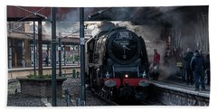 Stean Departure At York Bath Towel by David  Hollingworth