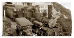 Stean Engine No. 8 Mount Tamalpais Circa 1920 Bath Towel