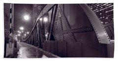 Steel Bridge Chicago Black And White Hand Towel