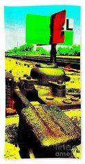 Steel Diesel Track Signal Bath Towel