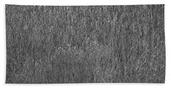 Steel Gray Grass Hand Towel