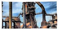 Steel Stacks Bethlehem Pa. Hand Towel