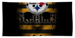 Steelers War Mask 2 Hand Towel