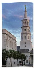 Steeple At Dusk Bath Towel