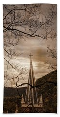 Steeple Of Time Bath Towel
