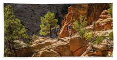 Steeply Up The Canyon Hand Towel