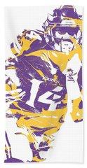 Stefon Diggs Minnesota Vikings Pixel Art 2 Hand Towel