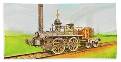 Steam Engine Mississippi Bath Towel