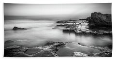 Steps Into The Sea Bw Hand Towel