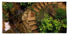 Steps Leading Up The Stairway To Heaven Bath Towel