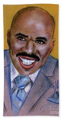 Bath Towel featuring the drawing Steve Harvey by P J Lewis
