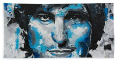 Bath Towel featuring the painting Steve Jobs II by Richard Day