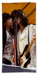 Steven Tyler And Joe Perry Of Aerosmith At Monsters Of Rock In Oakland Ca 1979 Hand Towel