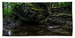 Stevensville Brook In Underhill, Vermont - 1 Bath Towel by James Aiken