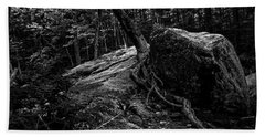 Hand Towel featuring the photograph Stevensville Brook In Underhill, Vermont - 3 Bw by James Aiken
